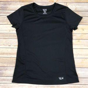 Mountain Hardwear Short sleeve top, Black, Large
